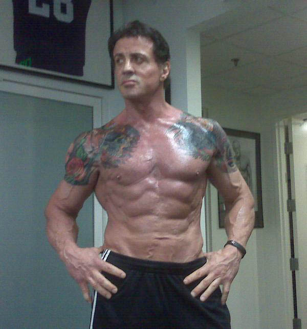 Sylvester Stallone at age 62 - Toned & Inked for The ...