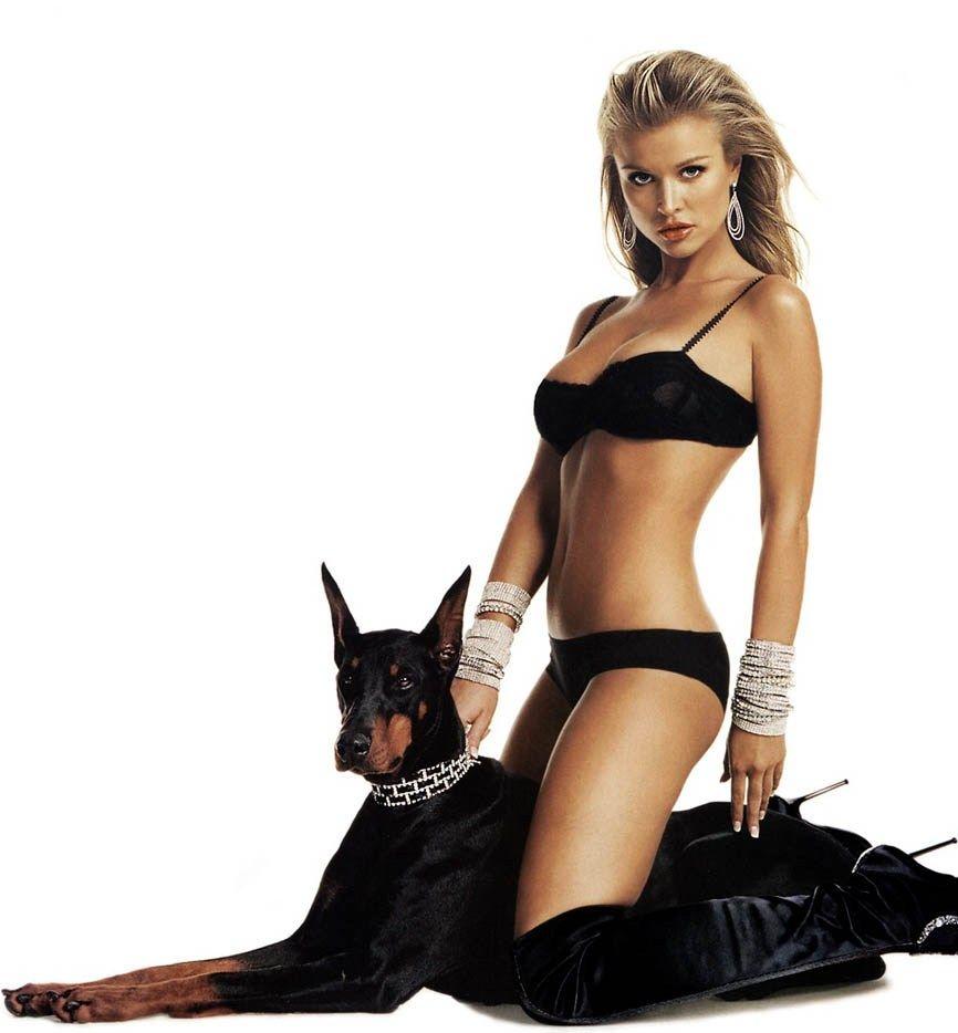 joanna and dog